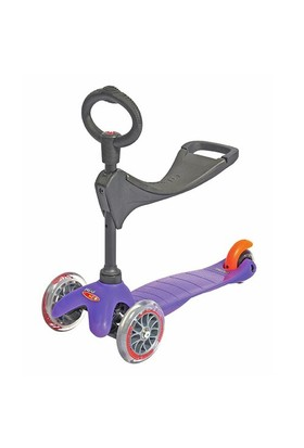 Micro Mini Scooter Oturak O ve T Bar 3 lu Purple
