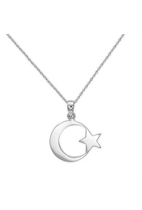 Ariş Pırlanta Ay Yıldız Altın Kolye
