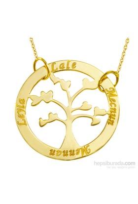 Goldstore 14 Ayar Hayat Ağacı Aile İsim Kolye Pnj38519