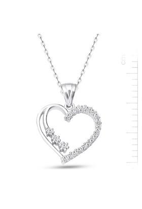 Bella Gloria Altın Kaplamalı Gümüş 3 Taşlı Kalp Kolye (GK00163)