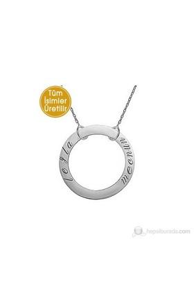 Goldstore 14 Ayar Altın Sevgi Çemberi İsim Kolye GP16596