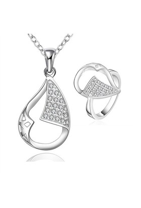 Byzinci Gümüş Kolye Yüzük Set