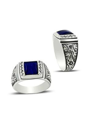 Beyazıt Takı Erzurum El Kalem İşi Gümüş Erkek Yüzüğü