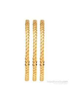 Altında Fırsat 52,5 gr, 22 Ayar 3'lü Burma Altın Bilezik EKO Paket (3 adet 17,5 gr)