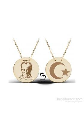 Aslaner Atatürk Madalyon Gümüş Kolye