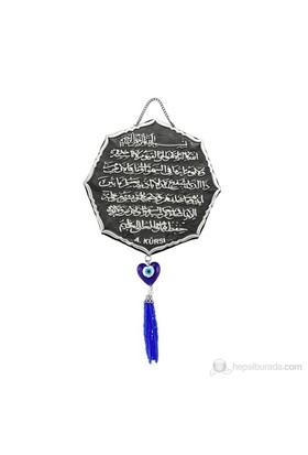 Gumush 925 Püsküllü Ayet-El Kürsi Yazılı Ayet   Kr2550006