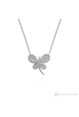 Glorria 925 Ayar Gümüş Kelebek Kolye