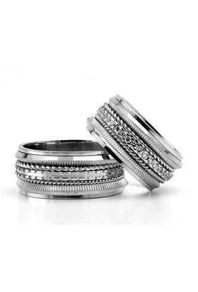 Berk Kuyumculuk Gümüş Alyans 5805(çift)