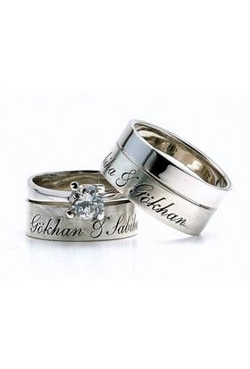 Berk Kuyumculuk Gümüş Alyans 5815(çift)