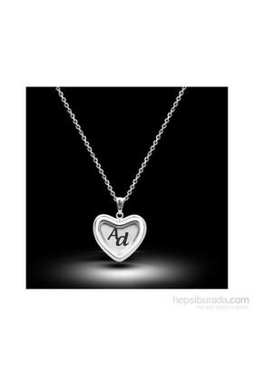 Aslaner Kalpteki Harfler Gümüş Kolye
