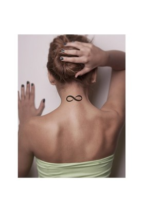 One Spray Tattoo Sonsuzluk Geçici Dövme Şablonu