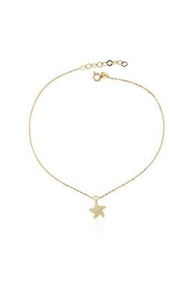 Glorria 14 Ayar Altın Deniz Yıldızı Halhal