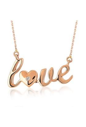 Divas Love Pırlanta Altın Love Kolye