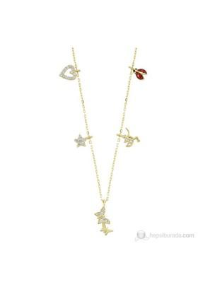 Mardeluz Altın Taşlı Şans Kolyesi MDLZ1554