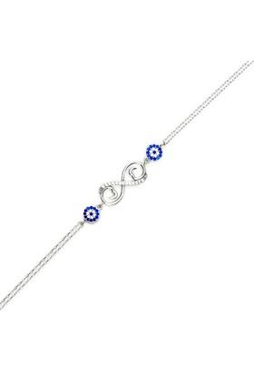 Beyazıt Takı 925 Ayar Gümüş Nazar Boncuklu Sonsuzluk Kalpli Bileklik