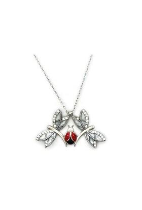Beyazıt Takı 925 Ayar Gümüş Uğur Böcekli Yusufçuk Kolye