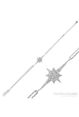 Tekbir Silver Gümüş Kutup Yıldızı Bileklik