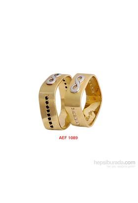 Arjuna Gümüş Tek Taş El İşi Çift Alyans Al1089