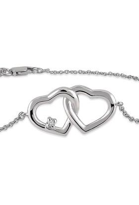 Divas Love Pırlanta İki Kalp Bileklik