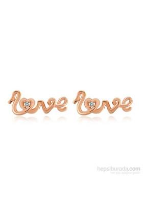Divas Love Pırlantalı Love Küpe