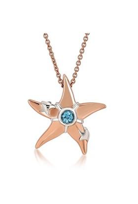 Divas Love Blue Topaz Deniz Yıldızı Kolye