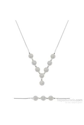 Olivin Accesories Gümüş Zirkon Taşlı Set 433091