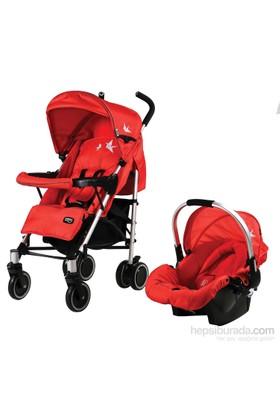 Sunny Baby 757 Jimmy Plus Travel Bebek Arabası - Kırmızı