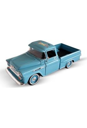 Motormax Kişiye Özel Lisanslı Motor Max 1958 Chevy Apache Fleetside Pickup 1:24 Model Araba