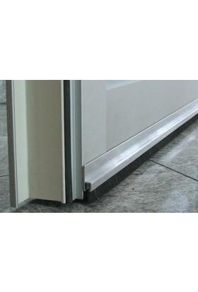 Kapı altı fırçası aliminyum 90 cm H tipi