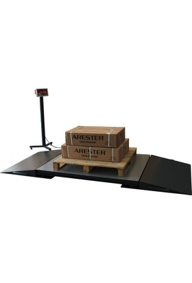 Arester 4L Rs-Led 150X150 6000 Kg Sanayi Tipi Rampalı Baskül