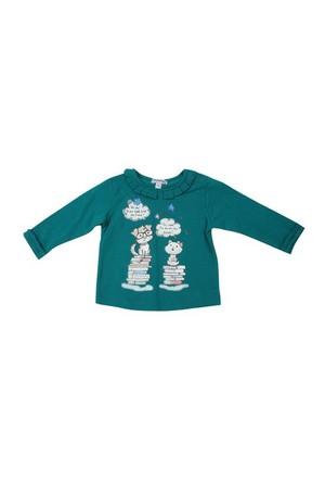 Zeyland Kız Çocuk Yesil T.Shirt Bis.Yaka K-42M532lpg64