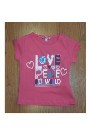 Zeyland Kız Çocuk Fusya T-Shirt Basic K-41Kl554552
