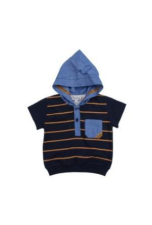Zeyland Erkek Çocuk Lacivert Kapsonlu Tshirt K-51M501bdh55