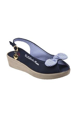 U.S. Polo Assn. A3352498 Lacivert Kız Çocuk Sandalet
