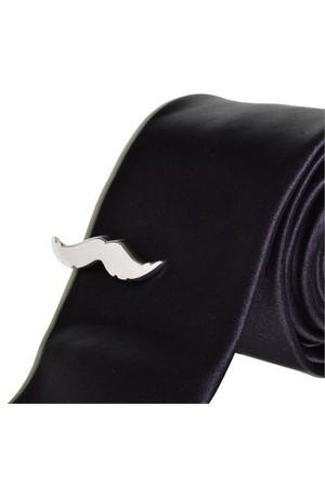 Bigg Fashion Bıyık Kravat İğnesi Silver