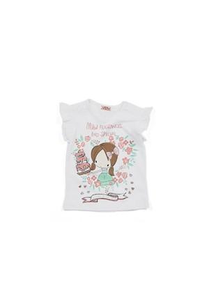 Zeyland Kız Çocuk Beyaz T-Shirt - K-61Z2AZE51