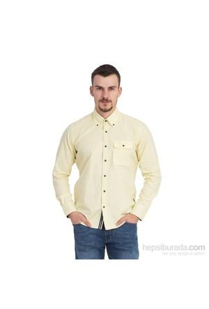 Kiğılı Uzun Kol Slimfit Gömlek 5A44cb716hh