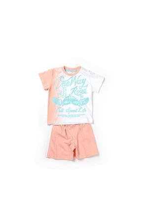 Zeyland Erkek Çocuk Beyaz T-Shirt-Şort Takım - K-61Z1MTR76