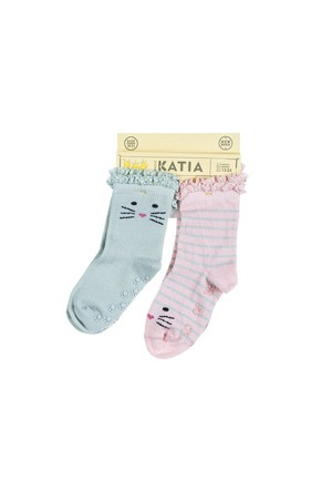 Katia&Bony 00405 Happy Cat 2 Pack Bebek Çorap