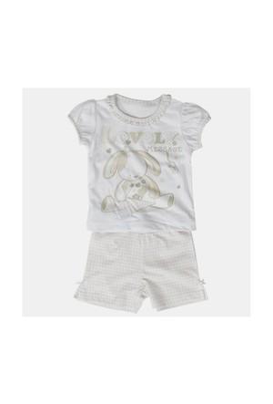Zeyland Kız Çocuk Beyaz T-Shirt-Şort Takım - K-61H2610