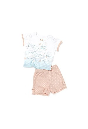 Zeyland Kız Çocuk Beyaz T-Shirt-Şort Takım - K-61H2706