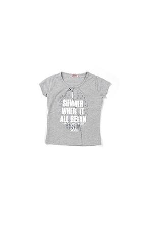 Zeyland Kız Çocuk Gri Melanj Bluz - K-61KL5254