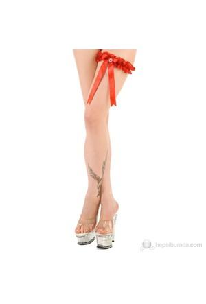 La Blinque Kırmızı Seksi Bacak Bandı
