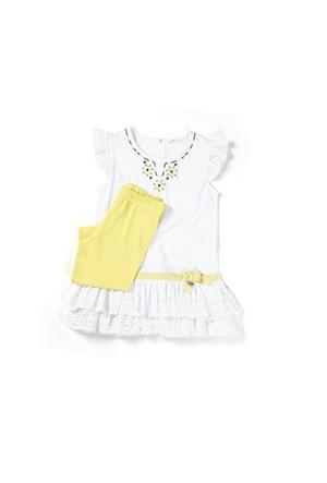 Zeyland Kız Çocuk Beyaz Tunik-Tayt Takım - K-61M4ECM76