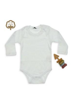 Modakids Bambaki Çocuk Uzun Kol İnterlok Beyaz Body 013-2003-027