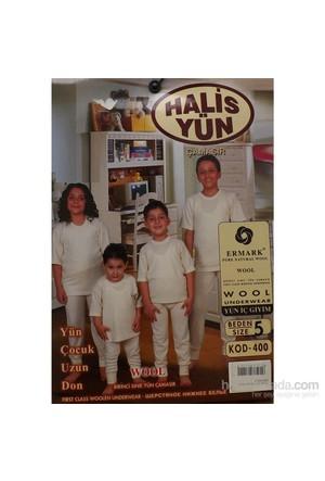 Halis Yün 8001 Çocuk Uzun Don Krem
