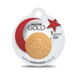 Nadir Gold 22 Ayar Külçe Gram Altın 1 Gr. (Yuvarlak)