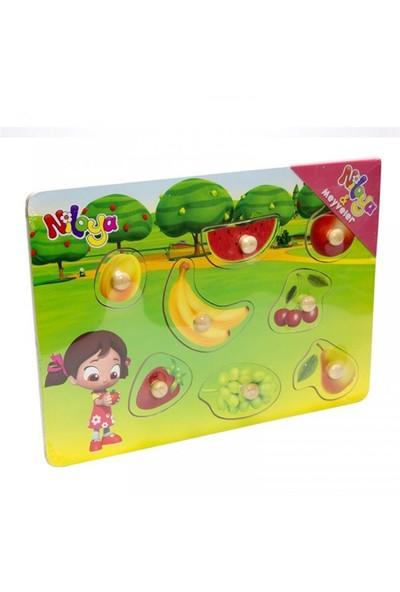 Pal Baby Niloya Ahşap Puzzle Meyveler