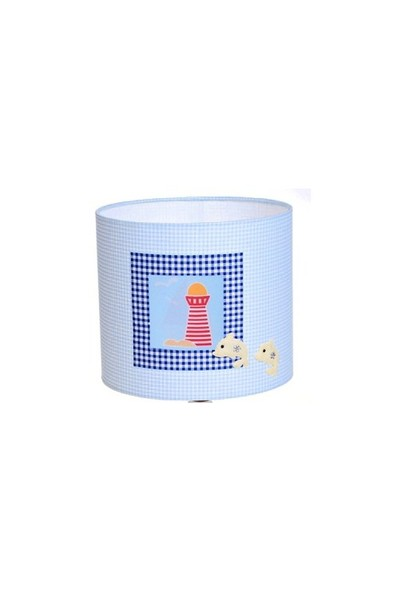 Bebemia El-Yapımı Bebek Odası Abajuru - Fener- Beyaz Ahşap Ayaklı