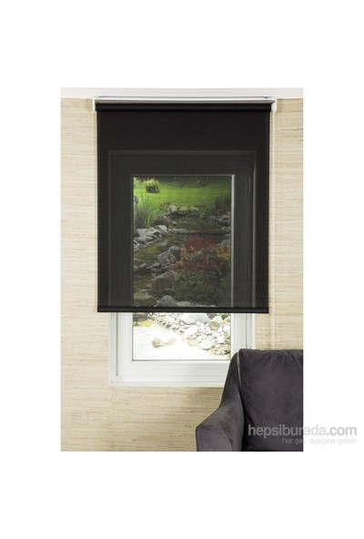 Comforsun Siyah Transparan Screen Stor Perde 60x200